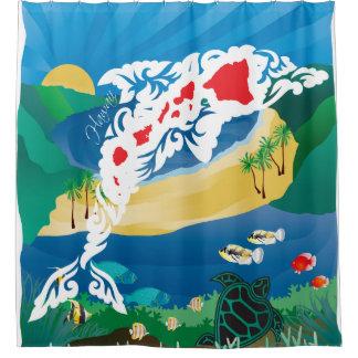 Hawaii-Delphine und Ozean 3 Duschvorhang