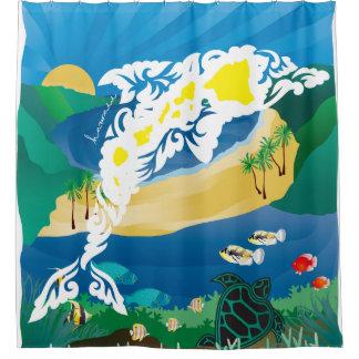 Hawaii-Delphine und Ozean 4 Duschvorhang
