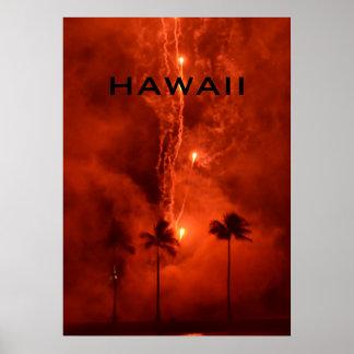 HAWAII-FEUERWERKS-PLAKAT POSTER
