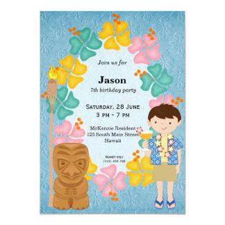 Hawaii-Geburtstagsjunge 12,7 X 17,8 Cm Einladungskarte