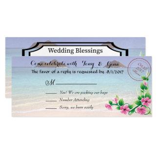 Hawaii-Hochzeit in Urlaubsort UAWG Karten 10,2 X 23,5 Cm Einladungskarte