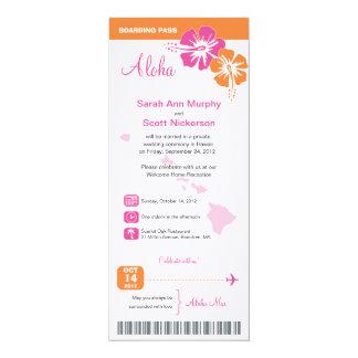 Hawaii-Hochzeits-Boarding-Durchlauf 10,2 X 23,5 Cm Einladungskarte