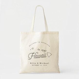 Hawaii-Hochzeits-Willkommens-Taschen-Tasche Tragetasche