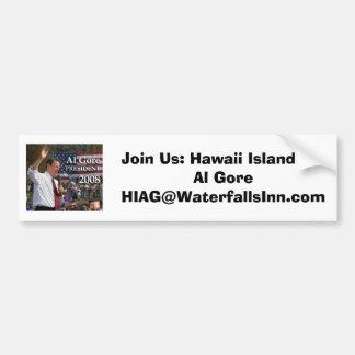 Hawaii-Insel für Al Gore Autoaufkleber