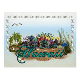 Hawaii-Insel Postkarte