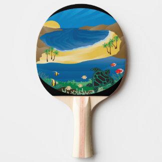 Hawaii-Insel-Schildkröte Tischtennis Schläger