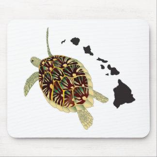 Hawaii-Inseln und Hawaii-Schildkröte Mousepad