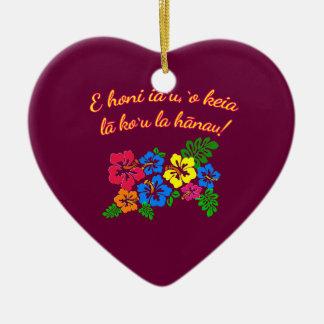 HAWAII küssen mich, den es mein Geburtstag auf Keramik Herz-Ornament