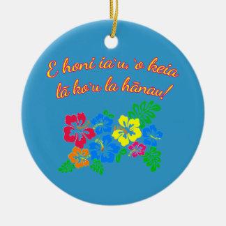 HAWAII küssen mich, den es mein Geburtstag auf Rundes Keramik Ornament
