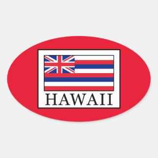 Hawaii Ovaler Aufkleber