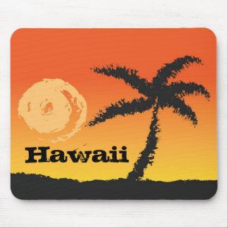 Hawaii-Palme am Sonnenuntergang Mousepad
