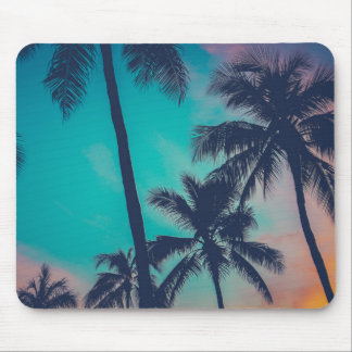 Hawaii-Palmen am Sonnenuntergang Mousepad