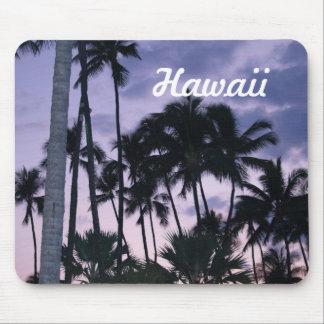 Hawaii-Palmen am Sonnenuntergang Mousepads