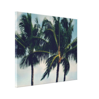 Hawaii-Palmen Leinwanddruck