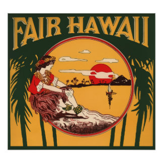 HAWAII-PARADIES POSTER