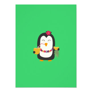 Hawaii-Pinguin 14 X 19,5 Cm Einladungskarte
