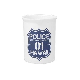 Hawaii-Polizeidienststelle-Schild 01 Getränke Pitcher