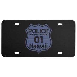 Hawaii-Polizeidienststelle-Schild 01 US Nummernschild