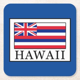 Hawaii Rechteckiger Pappuntersetzer