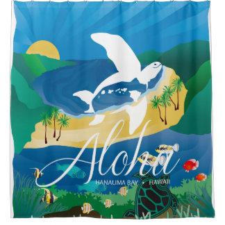 Hawaii-Schildkröte und Ozean 12 Duschvorhang