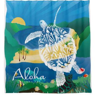 Hawaii-Schildkröte und Ozean 7 Duschvorhang