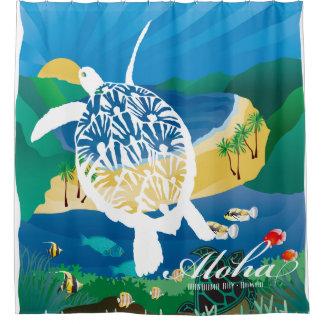 Hawaii-Schildkröte und Ozean 8 Duschvorhang