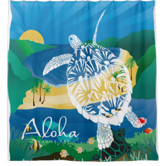 Hawaii-Schildkröte und Ozean 9 Duschvorhang