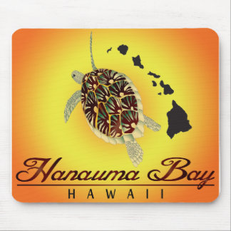 Hawaii-Schildkröten und Hawaii-Inseln Mauspad