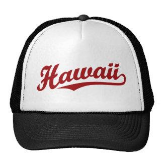 Hawaii-Skriptlogo im Rot Retrokult Cap