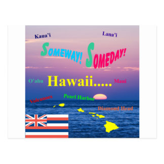 Hawaii Someway eines Tages Postkarte