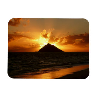 Hawaii-Sonnenaufgang am rechteckigen Magneten des Magnet