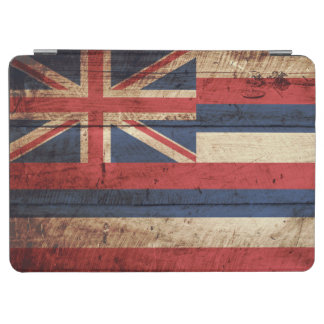 Hawaii-Staats-Flagge auf altem hölzernem Korn iPad Air Cover