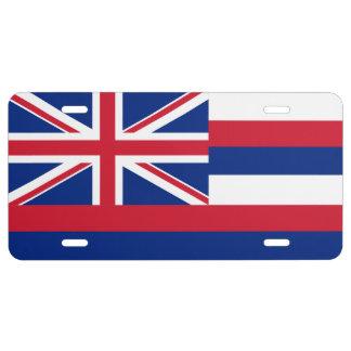 Hawaii-Staats-Flagge US Nummernschild