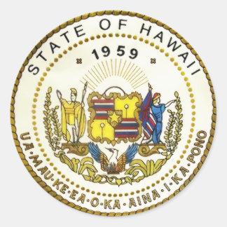 Hawaii-Staats-Siegel Runder Aufkleber