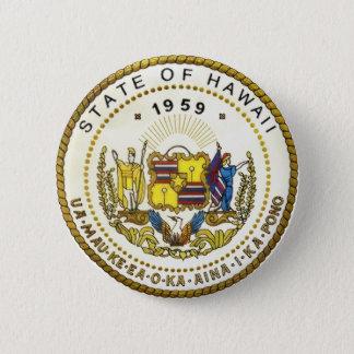 Hawaii-Staats-Siegel Runder Button 5,1 Cm