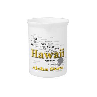 Hawaii-Staatsstolz-Karten-Silhouette Krug