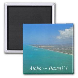Hawaii-Strand-Küstenlinie Quadratischer Magnet