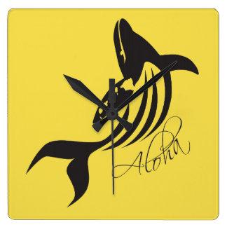 Hawaii-Wal Quadratische Wanduhr