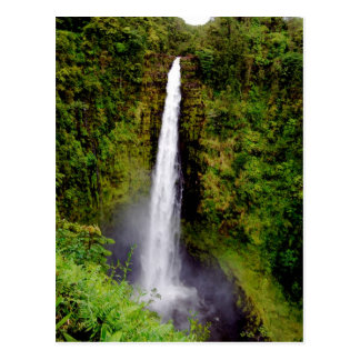 Hawaii-Wasserfall Akaka Fälle Postkarte
