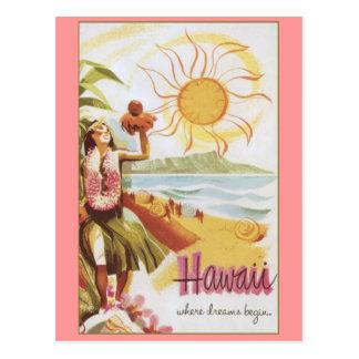 Hawaii - wo Träume anfangen Postkarte