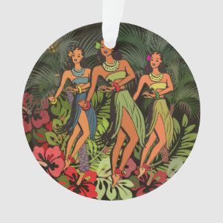 HawaiiAloha Palme Hula Kunst-Entwurf Ornament