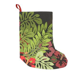 Hawaiianer Aloha BlumenHula Kunst-Druck Kleiner Weihnachtsstrumpf