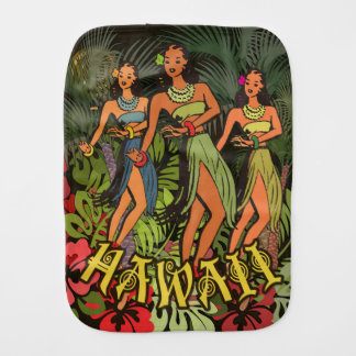 Hawaiianer Aloha BlumenHula Kunst-Druck Spucktuch