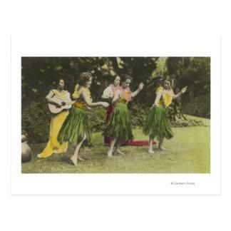 HawaiiHula Tänzer in ColorHawaii Postkarte