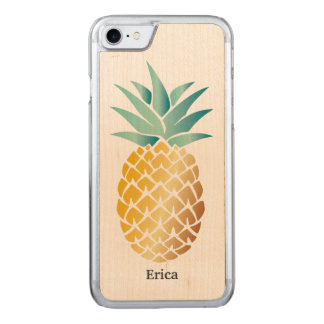 Hawaiische Ananas mit Namen Carved iPhone 8/7 Hülle