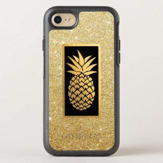 Hawaiische Ananas-moderner GoldGlitter OtterBox Symmetry iPhone 8/7 Hülle