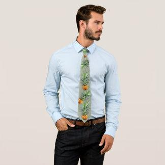 Hawaiische Ananas-weises Grün Personalisierte Krawatte