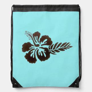 Hawaiische Blume zeichnen Schnur-Rucksack Turnbeutel