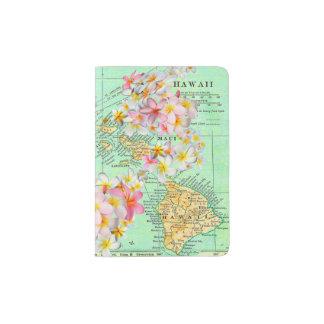 Hawaiische Blumen-Karte Passhülle