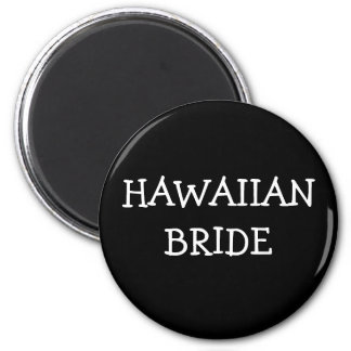 Hawaiische Braut Runder Magnet 5,7 Cm